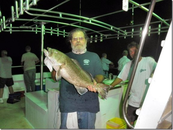 HCFC Activities Director Jim Husband with a nice grouper