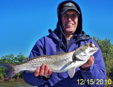 Alan Bello with a cold weather trout!