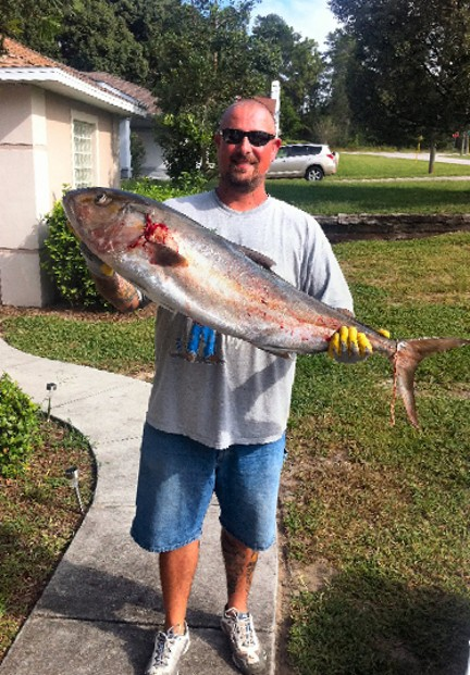 HCFC Member Mike Murphy with a beautiful 47 1/2 inch Amberjack