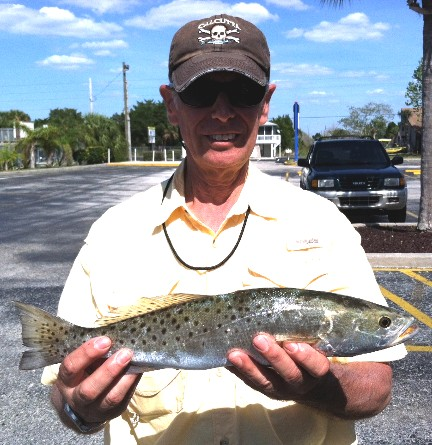 Alan Bello with his Spring Tournament winning trout