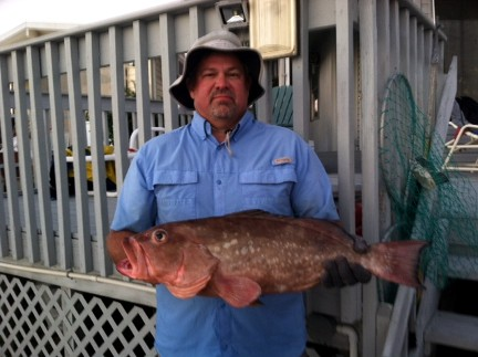 HCFC member Rick Hall, Jr. with a nice Venice FL Red Grouper